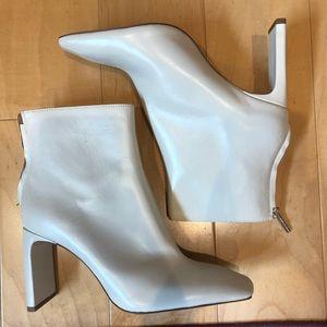 Zara White Booties
